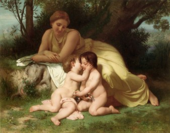 young-woman-contemplating-two-embracing-children-1861