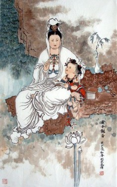 Kwan Yin with child